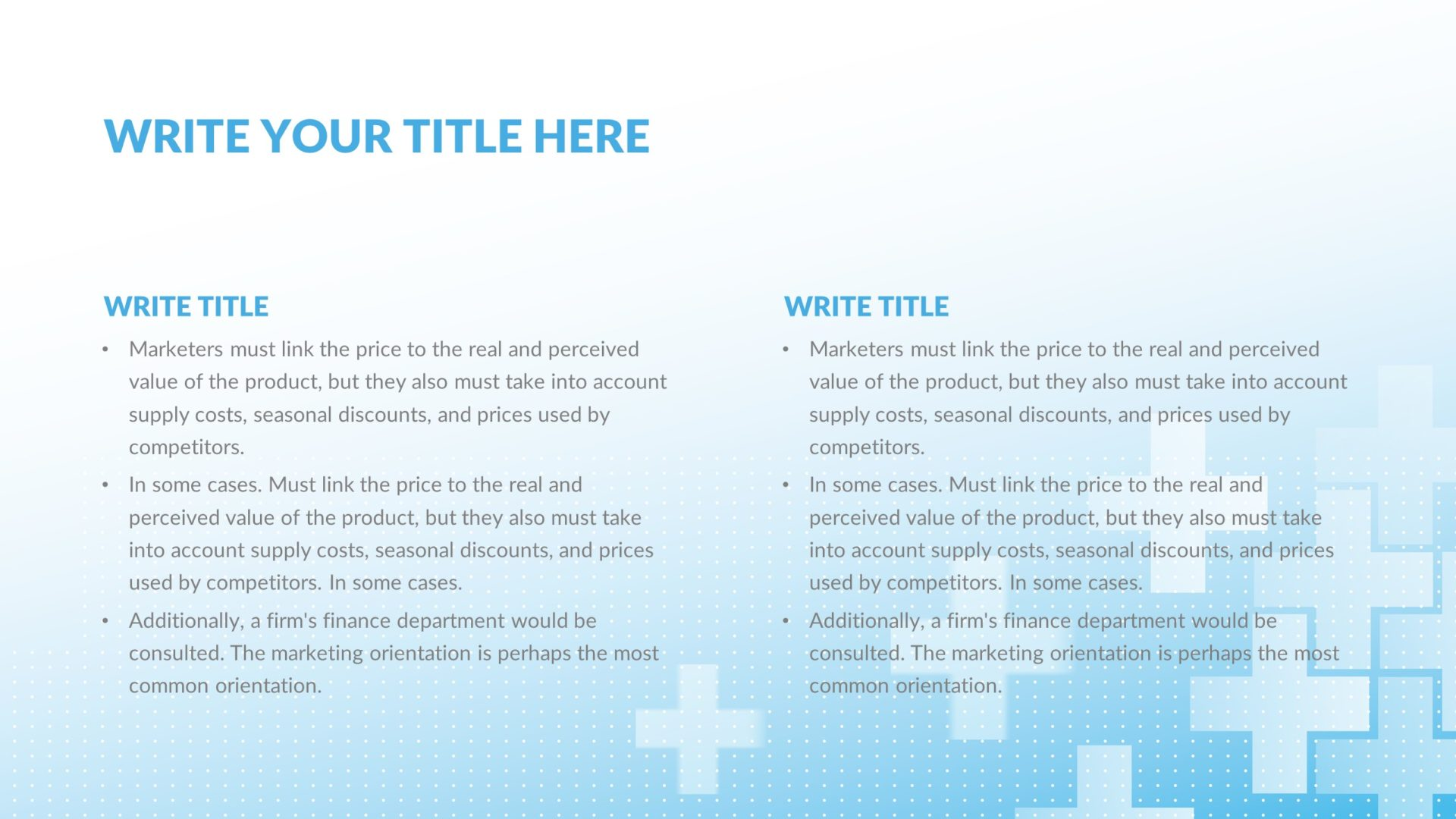 clinic medical free presentation template